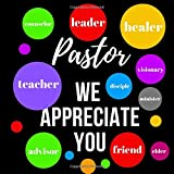 PASTOR WE APPRECIATE YOU: LINED GUESTBOOK WITH