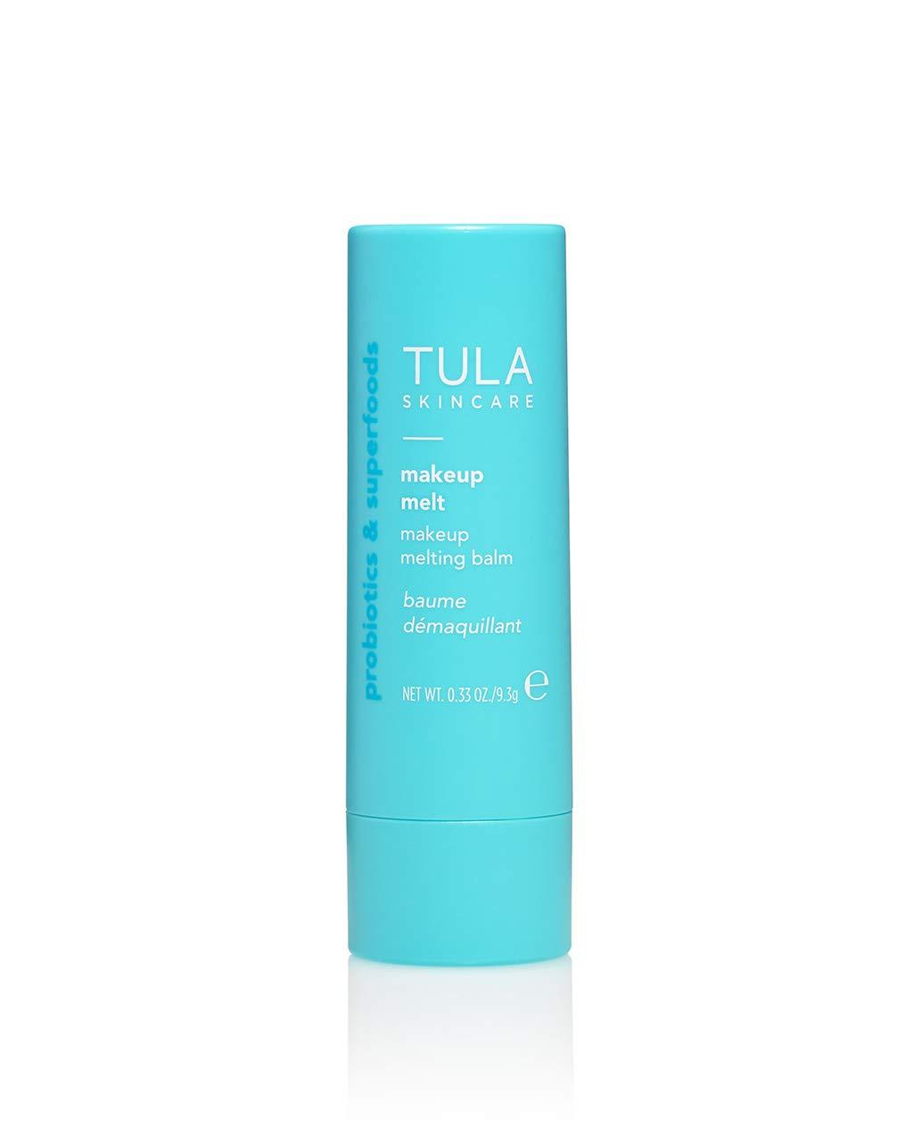 TULA Probiotic Skin Care Makeup Melt Makeup Removing Balm | Travel-Friendly, Dissolves Stubborn Makeup and Softens Skin | 0.32 oz