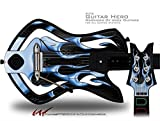 Metal Flames Blue Decal Style Skin - fits Warriors Of Rock Guitar Hero Guitar (GUITAR NOT INCLUDED)