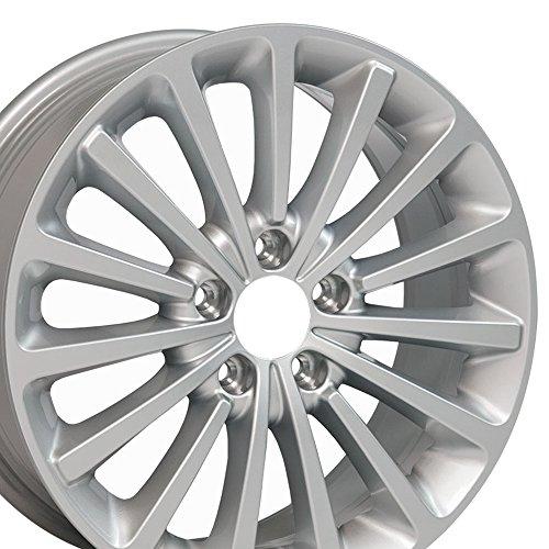 Wheel Rim Golf Vw (OE Wheels 17 Inch Fits Volkswagen GTI Jetta EOS CC Tiguan Rabbit Passat Golf Beetle VW Passat VW30 Painted Silver OEM 17x7 Rim Hollander 70000S)