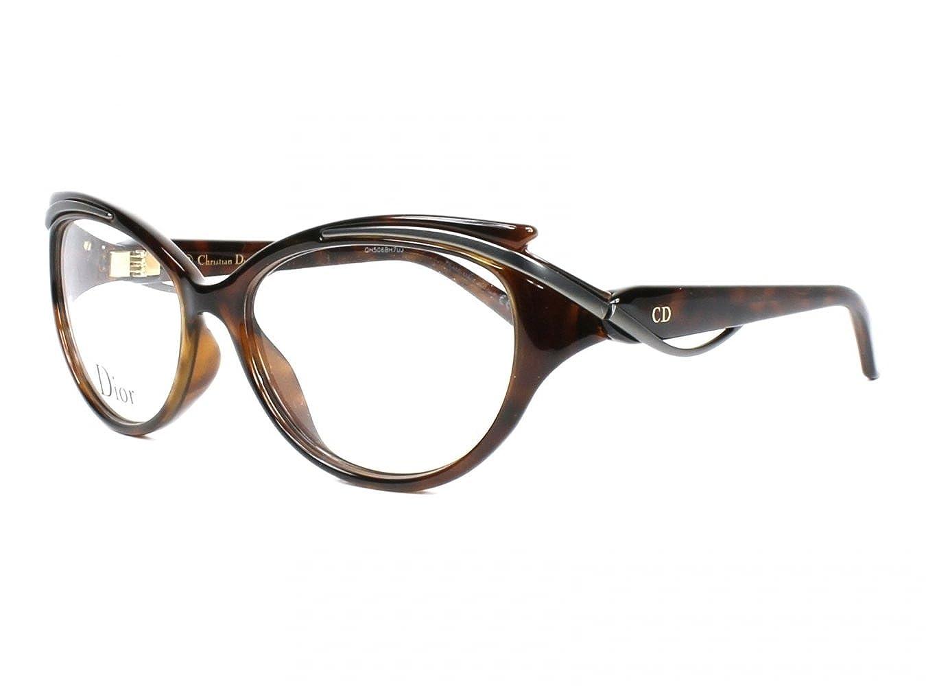 47db2b1259fd Amazon.com  DIOR Eyeglasses 3278 09OJ Havana Ruthenium 54MM  Shoes