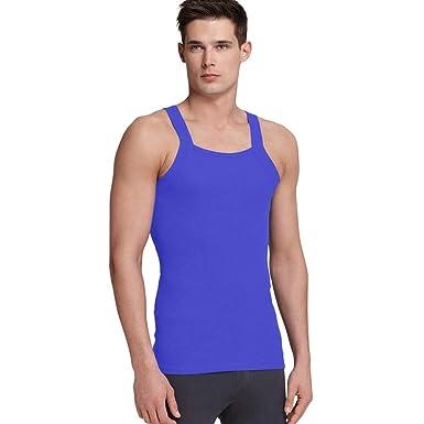 d2fb89d6defde5 imams deals Blue (Royal) G Unit Square Cut Ribbed Tank Top Undershirt  Underwear Wife Beater