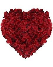 Naler 2000pcs Artificial Rose Petals, Silk Fake Flower Petals for Cosplay Decoration, Halloween, Christmas, Wedding Favor, Confetti, Table Scatter, Blue