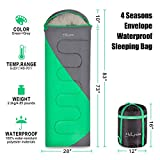 HollyHOME 4 Seasons Envelope Sleeping Bag For CampingHikingBackpacking Easy To Compress And Water Resistant