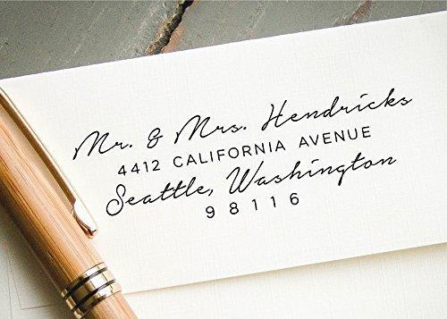 amazon com self inking return address stamp handwritten