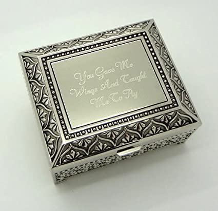 Amazoncom Personalized jewelry box with 3 lines text engraving
