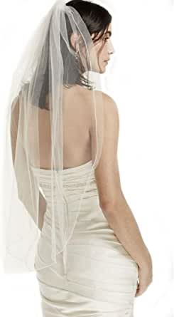 Puauaula One Tier Tulle Veil with Pencil Edge Wedding Accessories Wedding Bridal Veils 25
