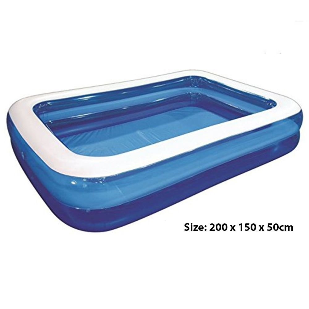 ASAB Large Inflatable Family Paddling Pool | for Kids and Adults | for Garden Parties | 305x183x50 cm