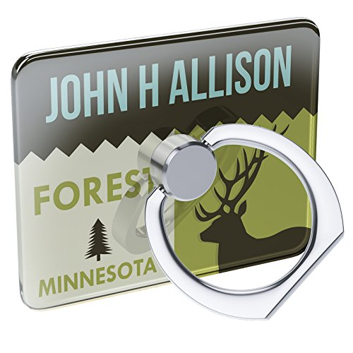 Cell Phone Ring Holder National US Forest John H Allison Forest Collapsible Grip & Stand Neonblond