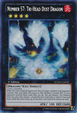 Yu-Gi-Oh!! - Number 57: Tri-Head Dust Dragon (NUMH-EN030) - Number Hunters - 1st Edition - Secret Rare