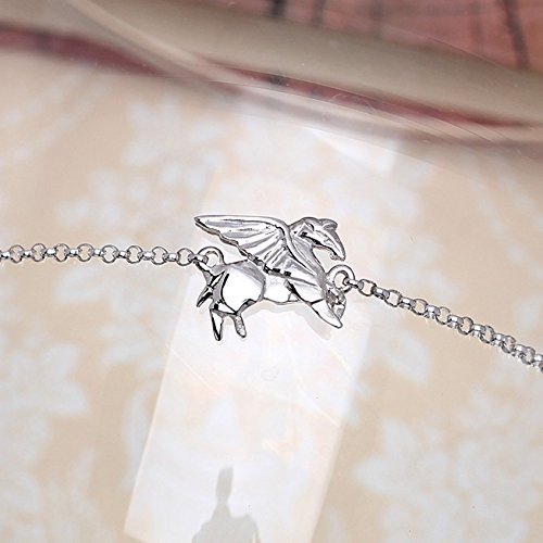 Amazon Flying Origami Pegasus Sterling Silver Bracelet By