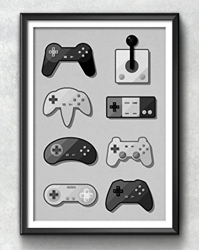 Game Pad Print, Gaming Poster, Gaming Art, Gaming Wall Art, Gaming Print, Gaming Illustration, Vintage, Gaming Decor, Retro, Hipster, Cool