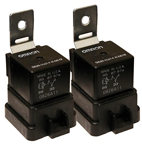 (( One Pair) OMRON Trim Tilt Relay for Outboard Motor American, SPDT, 12 VDC, 40A, G8JN Series, Panel, Quick Connect)