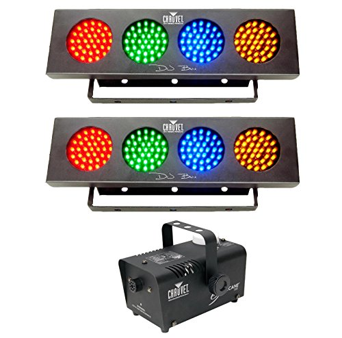 - CHAUVET HURRICANE H700 H-700 Fog/Smoke Machine + 2) DJ BANK LED RGBA Wash Lights