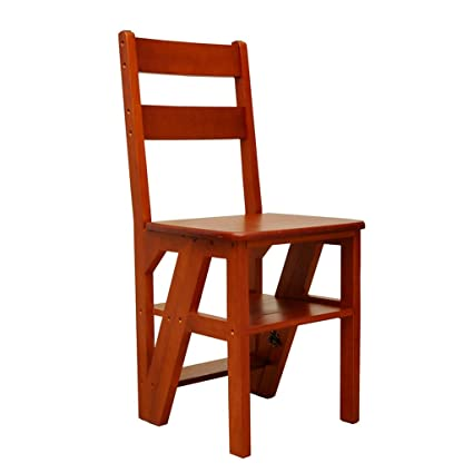 Superieur Solid Wood Ladder Chair Multifunctional Wooden Ladder Chair Foldable  Shelving Ladder With 4 Steps For Home