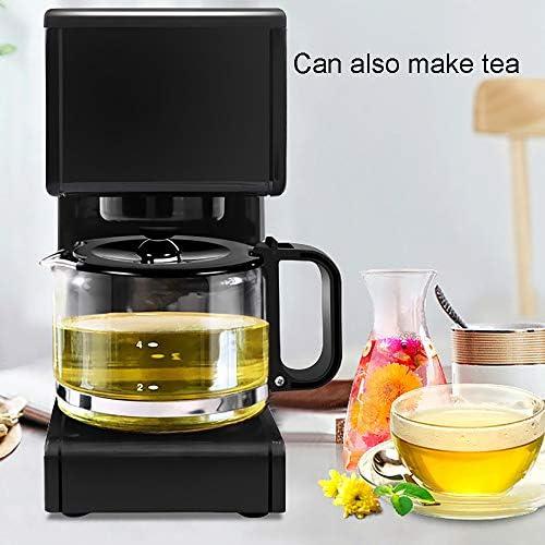 DAYTOY Machine à café Filtre, CALORIFUGÉ Jug, Chaud Conserver, Anti-Goutte Système, en Acier Inoxydable, Prevent Sec Combustion 680W