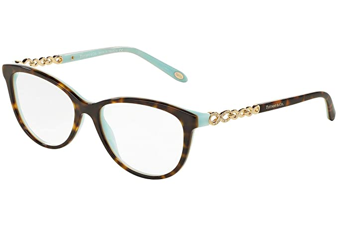 Amazon.com: Tiffany óptico 0tf2120b Full Rim Cat Eye Mujer ...