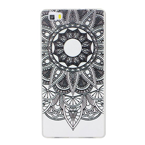 Huawei P8 Lite Case, Asnlove Carcasa TPU Silicona Bumper Shock-Absorción Slim Silicon Funda Trasera Back Cover Phone Shell Protector Funda Para Huawei P8 Lite Totem-1