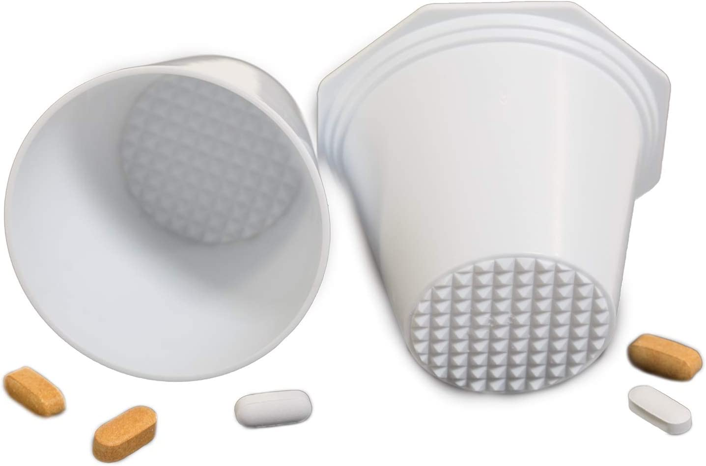 PILL CRUSHER, GRINDER - for Larger Pills, Vitamins or Multiple Tablets - Great for both Humans and Pets | Easy to use and Clean | QUICKLY Add Liquids for drinking - by MegaPill