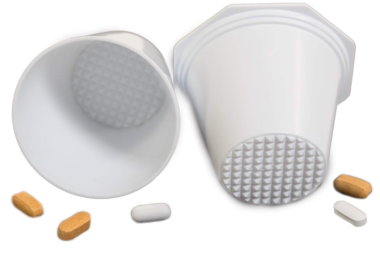 PILL CRUSHER, GRINDER - for Larger Pills, Vitamins or Multiple Tablets - Great for both Humans and Pets | Easy to use and Clean | QUICKLY Add Liquids for drinking - by MegaPill by Mega PillCrusher