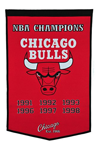 Winning Streak NBA Chicago Bulls Dynasty Banner (Nba Championship Banner)