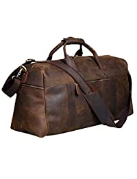 S-Zone Vintage Crazy Horse Leather men's Travel Duffle luggage Bag