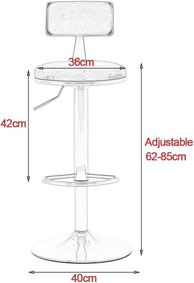360° Swivel Kitchen Stool Adjustable Bar Stools Counter Butterfly Swivel Modern Barstools for Dining Kitchen Room Pub 62-85cm Home Kitchen Bar stools #15