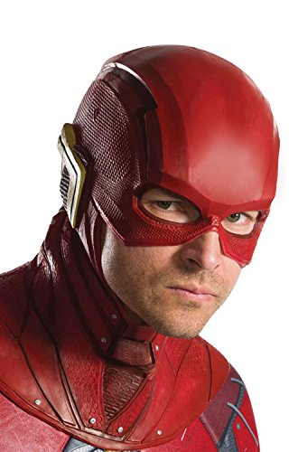 The Flash Costumes For Adults (Rubie's Costume Co. Men's Justice League Flash Overhead Latex Mask, As Shown, One Size)