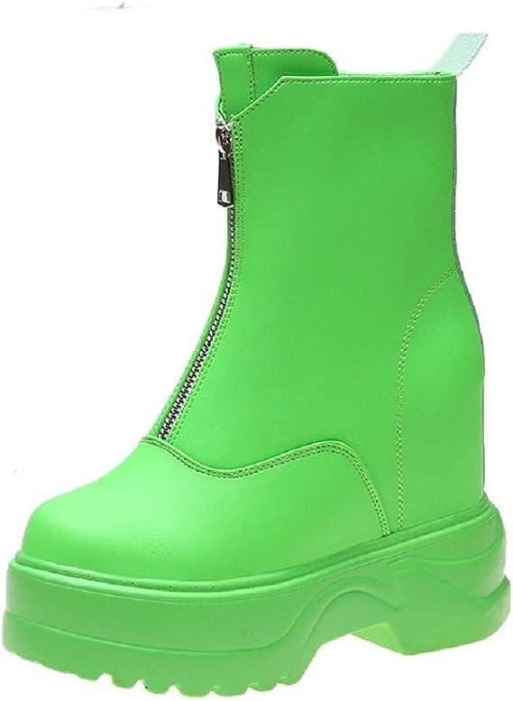 Luckycat Rain Boots, Botas para Mujer Zapatillas Botines Cavalier Mujer Talón Tacón Ancho Alto 6 CM Bota Agua Mujer Chelsea Jardín Trabajo Lluvia Tobillo Botas Festival Antideslizante Boots: Amazon.es: Relojes