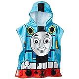 """Thomas The Tank Engine 22"""" x 44"""" 100% Cotton Hooded Poncho Bath Towel"""