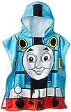 "Mattel Thomas The Tank Engine 22"" x 44"" 100% Cotton Hooded Poncho Bath Towel"