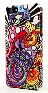Trippy Tie Dye Shrooms Dimensional Case Fits iPhone 4 or iPhone 4s