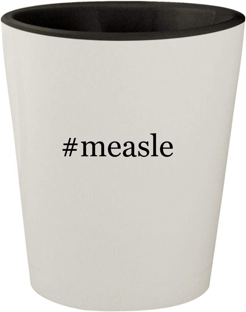 #measle - White Outer & Black Inner Hashtag Ceramic 1.5oz Shot Glass