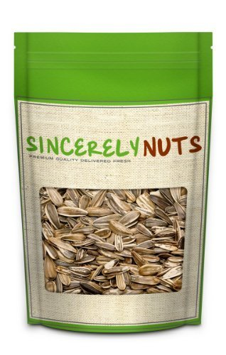 Sincerely Nuts Giant Unsalted Sunflower Seeds (Unshelled) - Four Lb. Bag- Mammoth/ Big Size- Loaded with Nutrients- Sealed for Freshness- 100% Kosher Certified (Snack Size Sunflower Seeds compare prices)