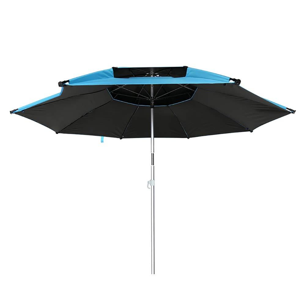 長傘 釣り用具ビーチ傘3段調整式伸縮式ポール、防風/ポータブルチルト(青) (サイズ さいず : 2m(6.56ft)) B07RTY3GV8  2m(6.56ft)