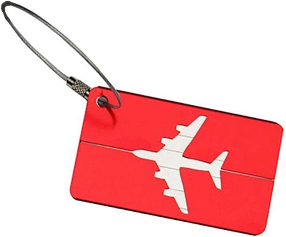 rouge /él/égant et populaire Ogquaton 2pcs portable voyage bagages valise /étiquette de bagages adresse nom /étiquette didentit/é didentit/é