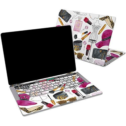 Lex Altern Vinyl Skin for MacBook Air 13 inch Mac Pro 15 Retina 12 11 2019 2018 2017 2016 2015 Fashion Brandy Pattern Stylish Vogue Ldies Sassy Laptop Wrap Cover Keyboard Decal Sticker Touch Bar Girl