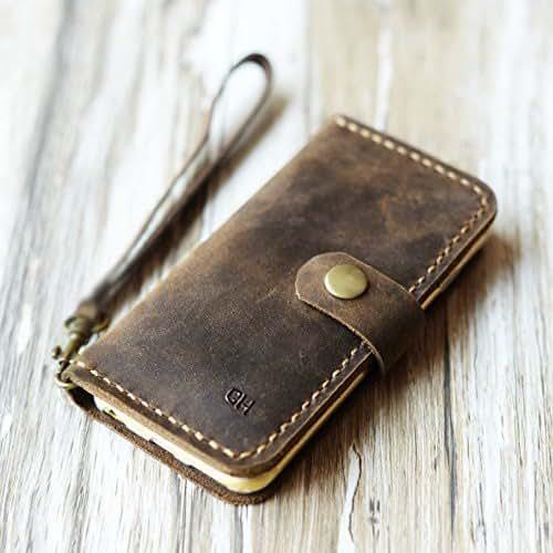Amazon Com Personalized Leather Iphone 6 Case 6s 6 Plus 6s Plus 7 7 Plus Wallet Case