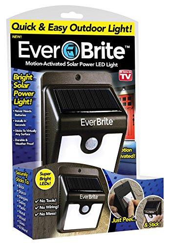 Ever Brite BRITE-MC12/4 Ever Brite Motion Activated LED Solar Light, Black
