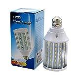Mininono High Power LED Bulb 25W Aluminum High Power Corn Light Bulb, 108LEDs 200W Halogen Bulbs Replacement, Warm White 3000K Medium Edison E26/E27 Base Super Bright LED Lamp