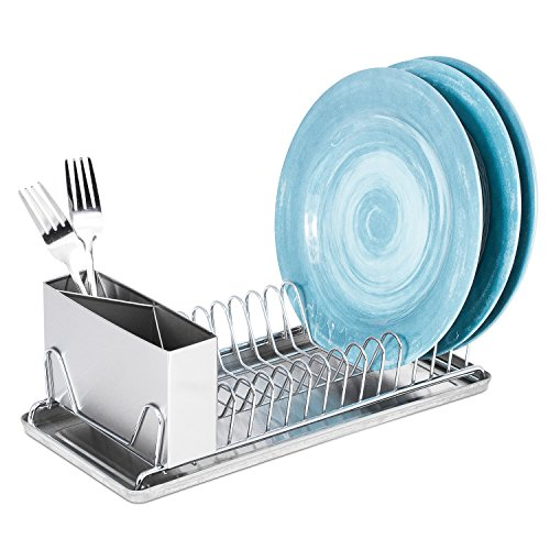 Dish Drying Rack With Drain Board – Compact with Stainless