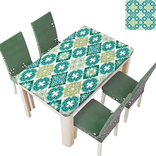 (Printsonne Eco-Friendly and Safe Colorful Moroccan Tiles Ornaments Can be Used for Wallpaper,Pattern Fills,Web Page Multi Colors & Sizes 54 x 72 Inch (Elastic Edge))