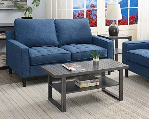 Convenience Concepts Shoreline Coffee Table, Charcoal Gray