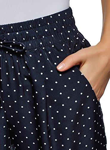 Pantalones 7912d Oodji Azul Con Y Cordones Elástico Mujer Collection UUq8nxE7