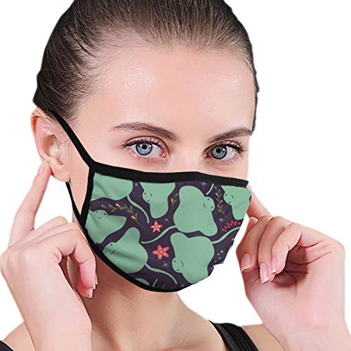 Comfort Face Mask Adjustable Elastic Band Hypoallergenic Half Face Mouth Mask for Pollen Smog Dental Cycling, Boys Girls Adults (Kawaii Sting Ray Mouth Mask)