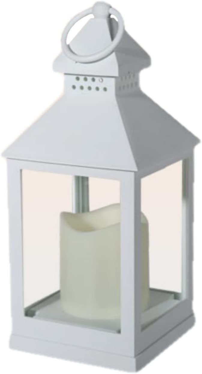 Plastic Lantern Led Candle Home Garden Decoration Choice Of Colours And Deals Single White Amazon Co Uk Lighting