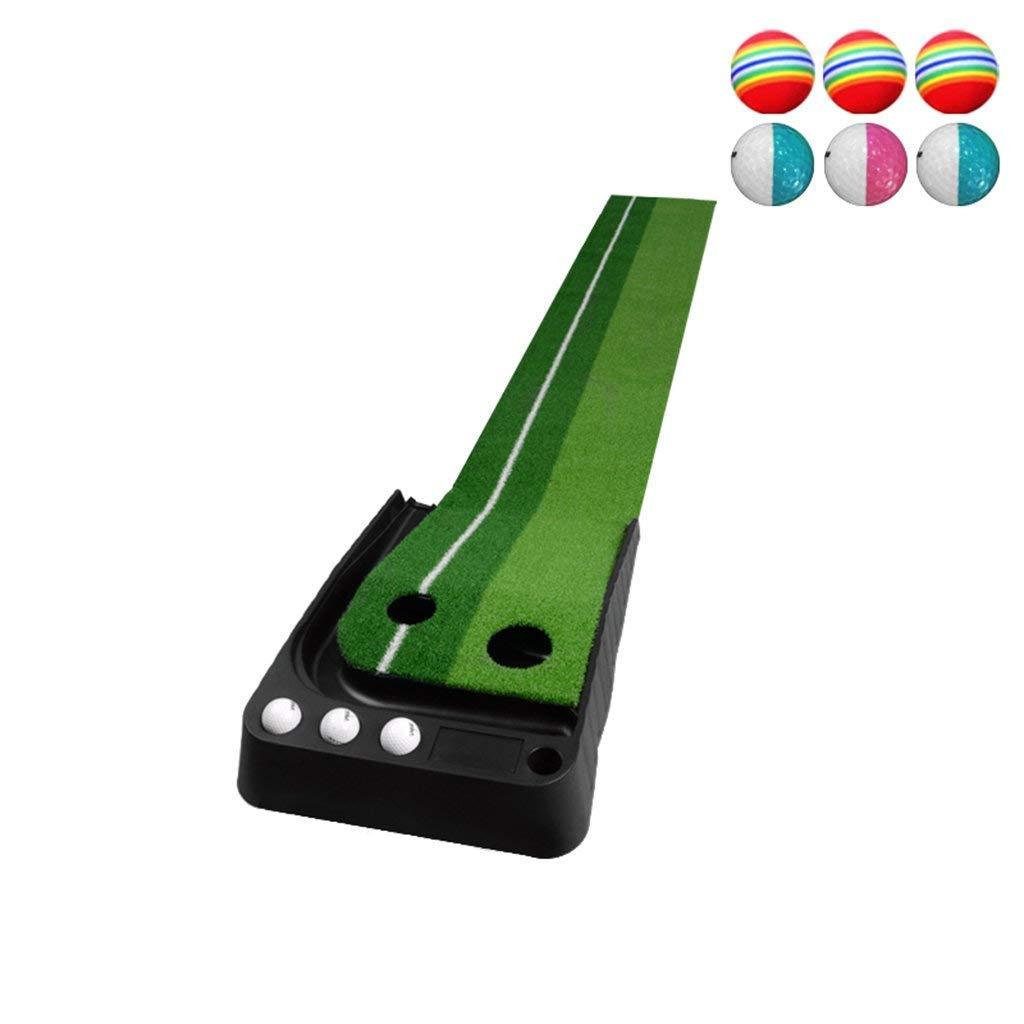 ゴルフパッティングトレーナー、室内/屋外ゴルフオートリターンパッティングトレーナーマット   B07K868555