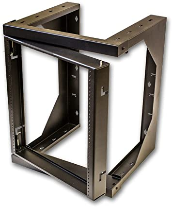 Amazon Com Navepoint 12u Professional It Swing Gate Wall Mount Network 19 Inch Data Rack 18 Inches Deep 2 Feet High Black Electronics