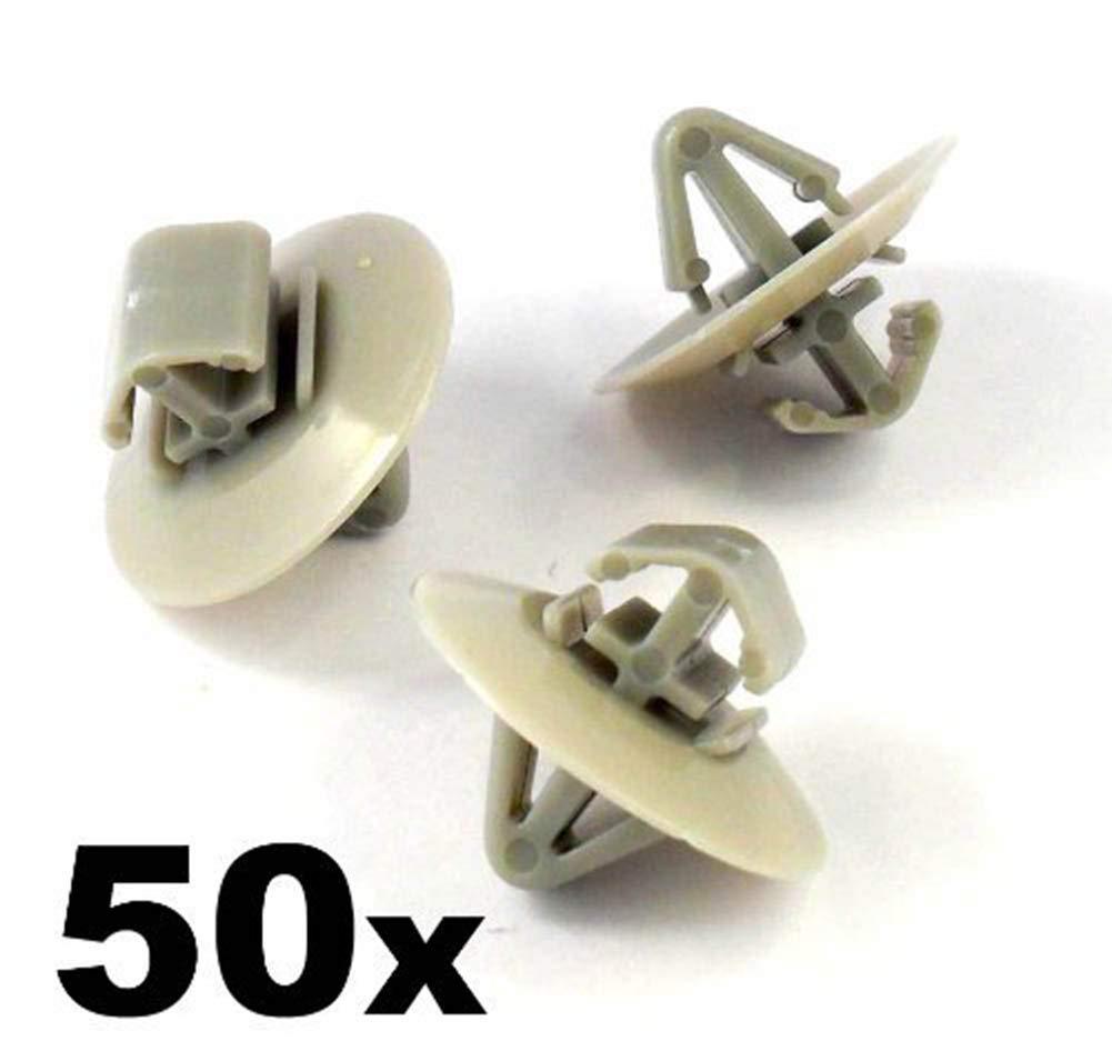 50 x Clips Agrafe Plastique Moulures et Bandeaux - Vauxhall / Nissan Primastar / Renault (7703077421) - Panneaux de Portes / Garnissages - LIVRAISON GRATUITE! Agrafes Plastique