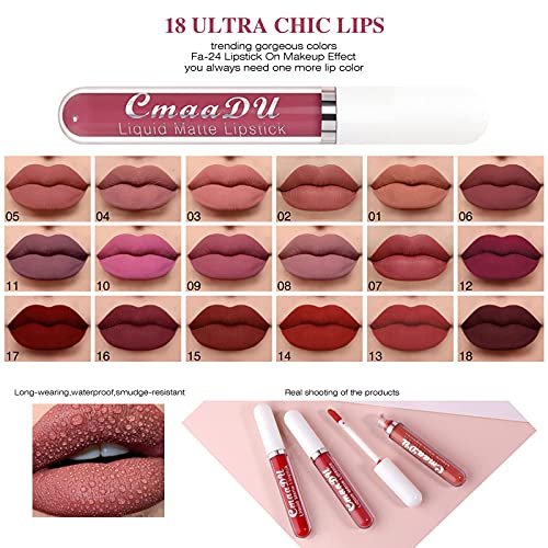 Shiny Diamond Liquid Lip Gloss for Women Girls - Long Lasting Metal Matte Lip Gloss Lipstick Non-stick Cup for Halloween Christmas Makeup Party Women Beauty Lips Plumper